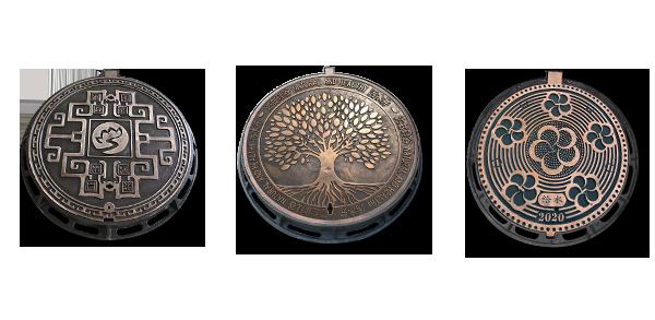 铸铁仿铜井盖