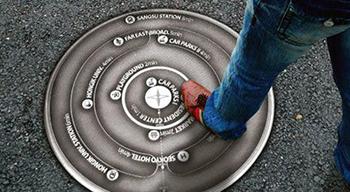 仿石材井盖厂家介绍各国街头的特色井盖画